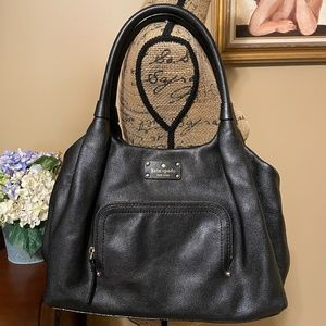 Kate Spade Baxter St. Black Leather Stevie Satchel